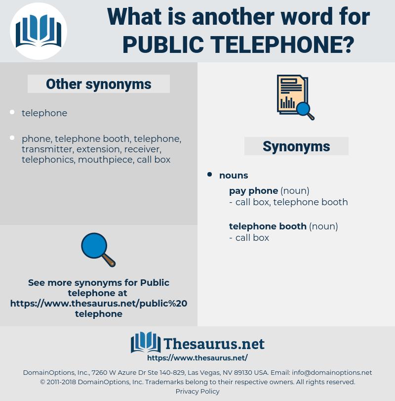 public telephone, synonym public telephone, another word for public telephone, words like public telephone, thesaurus public telephone
