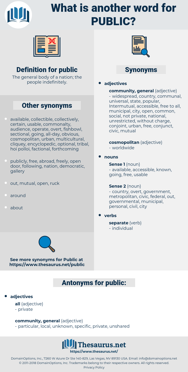 public, synonym public, another word for public, words like public, thesaurus public