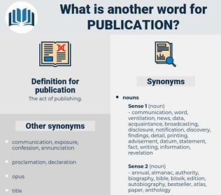 publication, synonym publication, another word for publication, words like publication, thesaurus publication