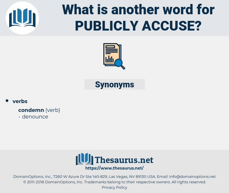 publicly accuse, synonym publicly accuse, another word for publicly accuse, words like publicly accuse, thesaurus publicly accuse