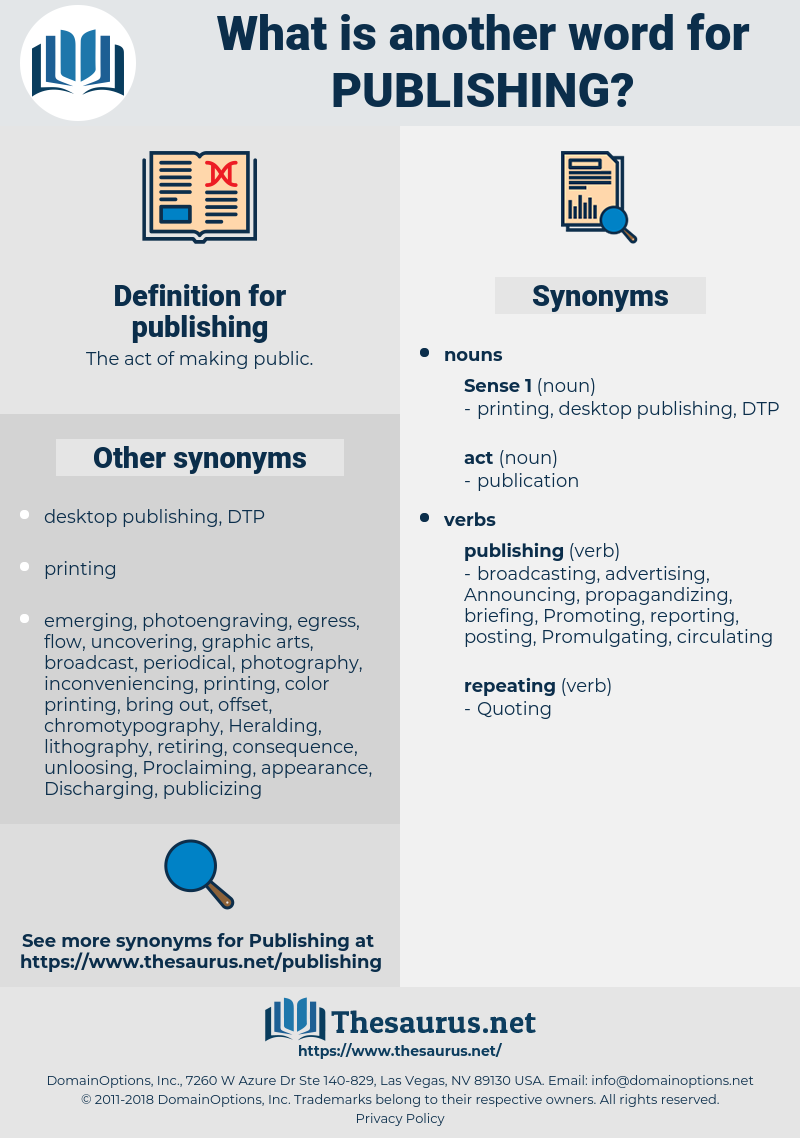 synonyms for publishing - thesaurus