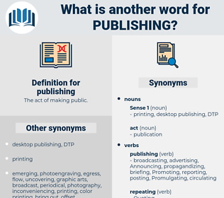 publishing, synonym publishing, another word for publishing, words like publishing, thesaurus publishing