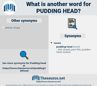 pudding head, synonym pudding head, another word for pudding head, words like pudding head, thesaurus pudding head