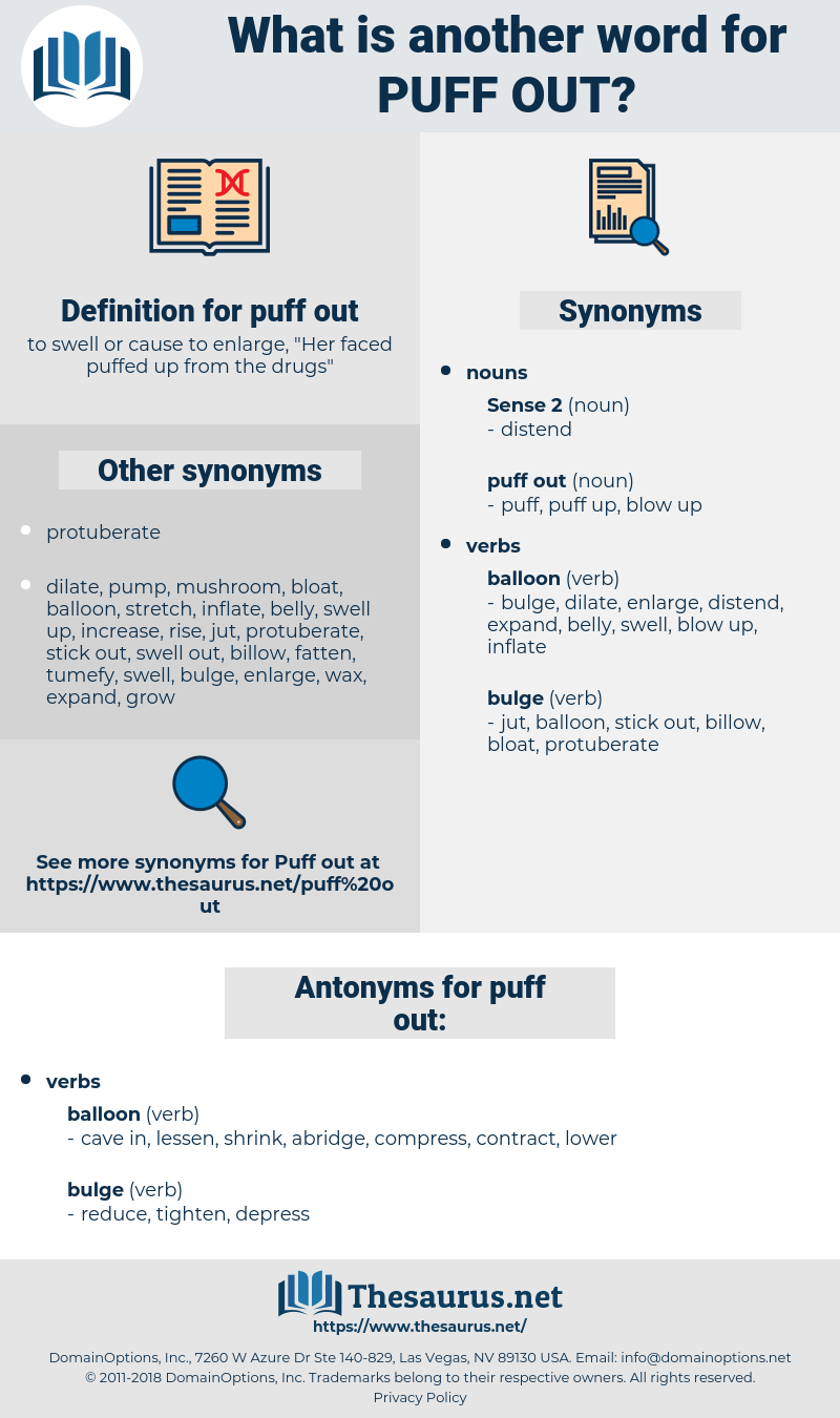 puff out, synonym puff out, another word for puff out, words like puff out, thesaurus puff out