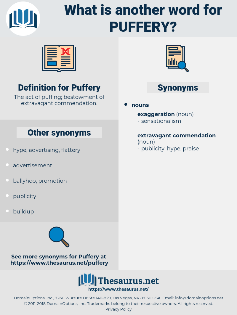 Puffery, synonym Puffery, another word for Puffery, words like Puffery, thesaurus Puffery