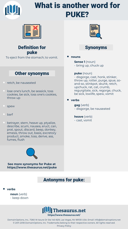 puke, synonym puke, another word for puke, words like puke, thesaurus puke