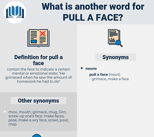 pull a face, synonym pull a face, another word for pull a face, words like pull a face, thesaurus pull a face