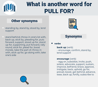 pull for, synonym pull for, another word for pull for, words like pull for, thesaurus pull for