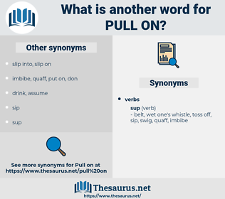 pull on, synonym pull on, another word for pull on, words like pull on, thesaurus pull on