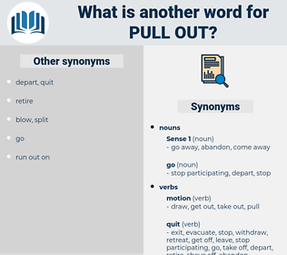 pull out, synonym pull out, another word for pull out, words like pull out, thesaurus pull out