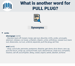 pull plug, synonym pull plug, another word for pull plug, words like pull plug, thesaurus pull plug