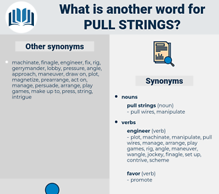 pull strings, synonym pull strings, another word for pull strings, words like pull strings, thesaurus pull strings