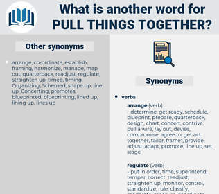 pull things together, synonym pull things together, another word for pull things together, words like pull things together, thesaurus pull things together