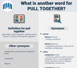 pull together, synonym pull together, another word for pull together, words like pull together, thesaurus pull together