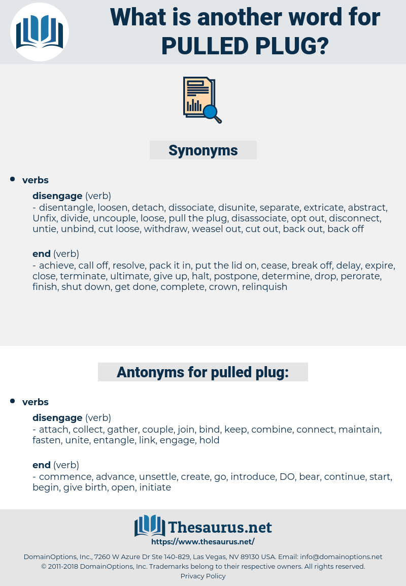 pulled plug, synonym pulled plug, another word for pulled plug, words like pulled plug, thesaurus pulled plug