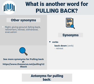 pulling back, synonym pulling back, another word for pulling back, words like pulling back, thesaurus pulling back