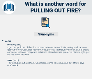 pulling out fire, synonym pulling out fire, another word for pulling out fire, words like pulling out fire, thesaurus pulling out fire