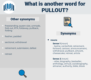 pullout, synonym pullout, another word for pullout, words like pullout, thesaurus pullout