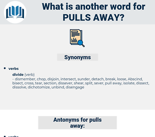 pulls away, synonym pulls away, another word for pulls away, words like pulls away, thesaurus pulls away