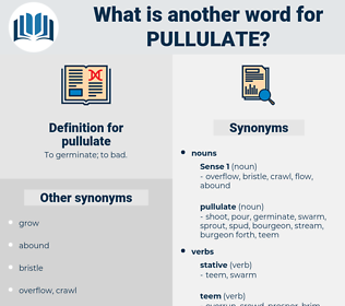 pullulate, synonym pullulate, another word for pullulate, words like pullulate, thesaurus pullulate