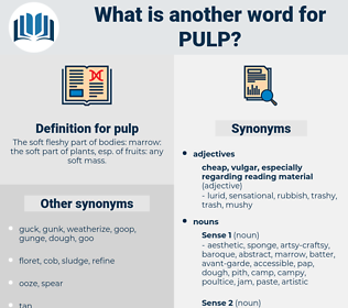 pulp, synonym pulp, another word for pulp, words like pulp, thesaurus pulp