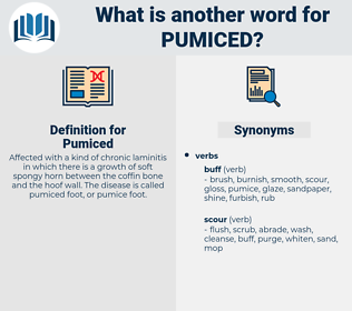 Pumiced, synonym Pumiced, another word for Pumiced, words like Pumiced, thesaurus Pumiced