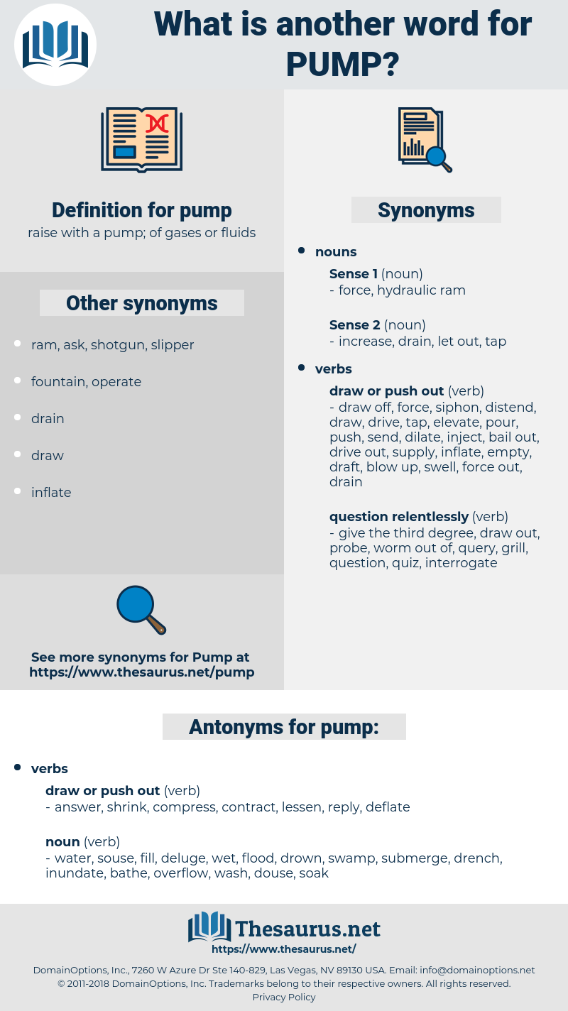 pump, synonym pump, another word for pump, words like pump, thesaurus pump