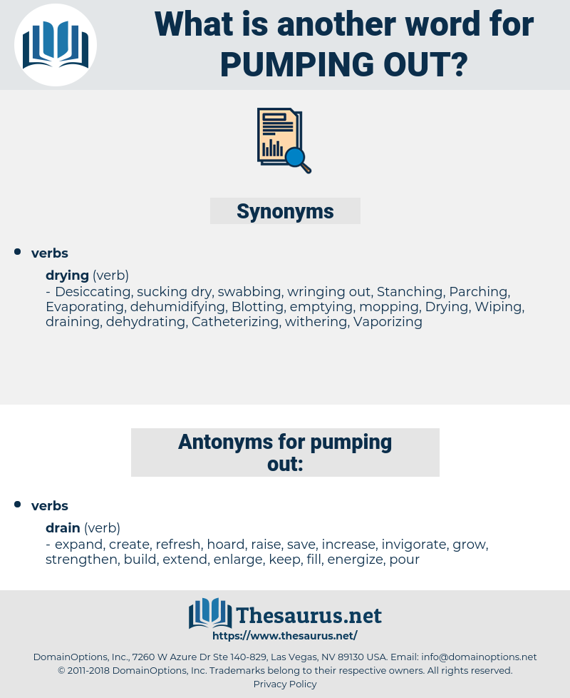 pumping out, synonym pumping out, another word for pumping out, words like pumping out, thesaurus pumping out