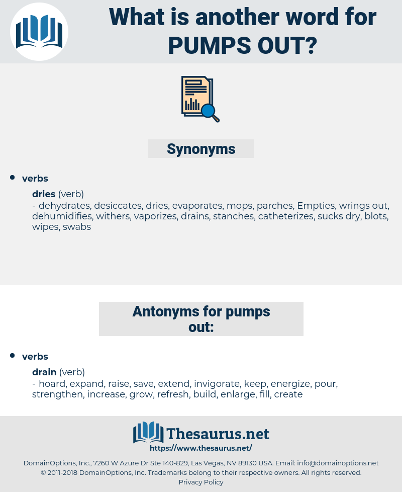 pumps out, synonym pumps out, another word for pumps out, words like pumps out, thesaurus pumps out
