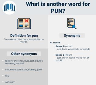 pun, synonym pun, another word for pun, words like pun, thesaurus pun