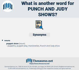 punch and judy shows, synonym punch and judy shows, another word for punch and judy shows, words like punch and judy shows, thesaurus punch and judy shows