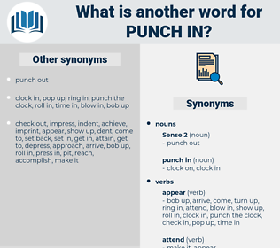 punch in, synonym punch in, another word for punch in, words like punch in, thesaurus punch in
