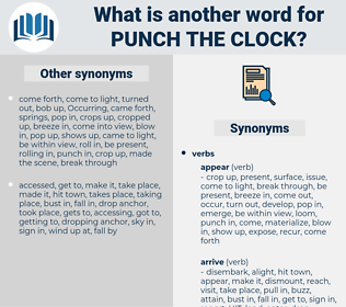 punch the clock, synonym punch the clock, another word for punch the clock, words like punch the clock, thesaurus punch the clock