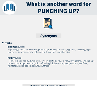 punching up, synonym punching up, another word for punching up, words like punching up, thesaurus punching up
