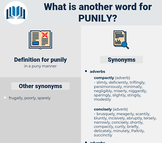 punily, synonym punily, another word for punily, words like punily, thesaurus punily