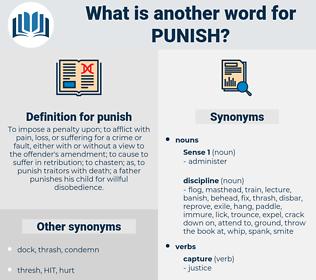 punish, synonym punish, another word for punish, words like punish, thesaurus punish
