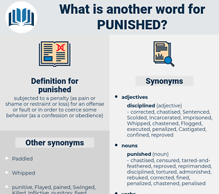 punished, synonym punished, another word for punished, words like punished, thesaurus punished