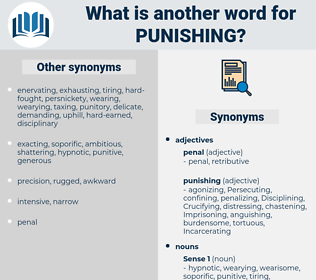 punishing, synonym punishing, another word for punishing, words like punishing, thesaurus punishing