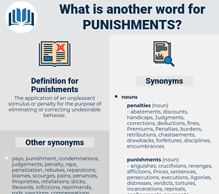 Punishments, synonym Punishments, another word for Punishments, words like Punishments, thesaurus Punishments