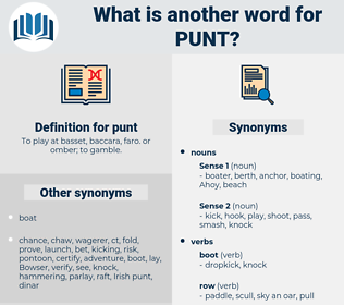 punt, synonym punt, another word for punt, words like punt, thesaurus punt
