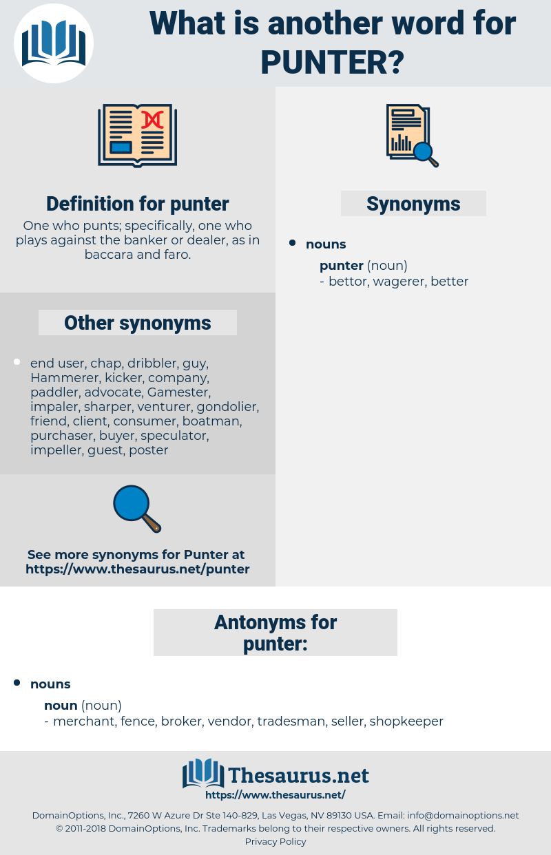 punter, synonym punter, another word for punter, words like punter, thesaurus punter