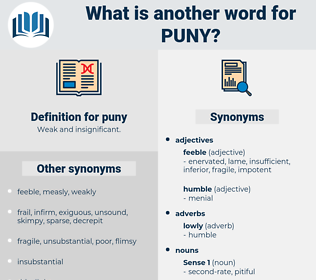 puny, synonym puny, another word for puny, words like puny, thesaurus puny