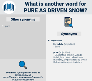 pure as driven snow, synonym pure as driven snow, another word for pure as driven snow, words like pure as driven snow, thesaurus pure as driven snow