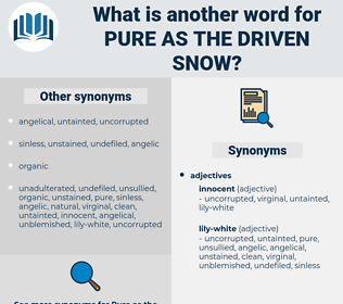 pure as the driven snow, synonym pure as the driven snow, another word for pure as the driven snow, words like pure as the driven snow, thesaurus pure as the driven snow