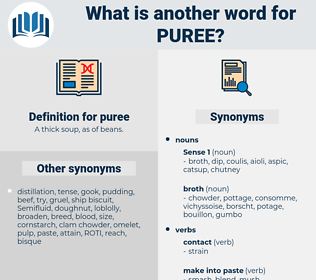 puree, synonym puree, another word for puree, words like puree, thesaurus puree