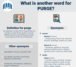 purge, synonym purge, another word for purge, words like purge, thesaurus purge