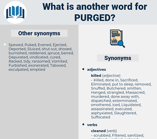 Purged, synonym Purged, another word for Purged, words like Purged, thesaurus Purged