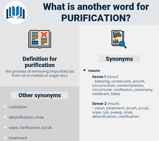 purification, synonym purification, another word for purification, words like purification, thesaurus purification