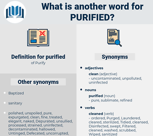 purified, synonym purified, another word for purified, words like purified, thesaurus purified