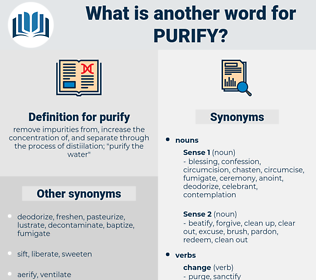 purify, synonym purify, another word for purify, words like purify, thesaurus purify